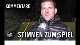 Stimmen zum Spiel | Horremer SV – Spvgg. Kirch-Grottenherten (13. Spieltag, Kreisliga B, Staffel 2)