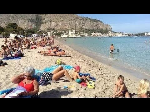 Mondello Beach , Sicily - YouTube