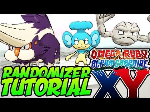 How to RANDOMIZE Pokémon Omega Ruby, Alpha Sapphire, X and Y! Gen 6 RANDOMIZER Tutorial!