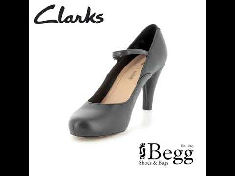 35351257a33 Clarks Dalia Lily D Fit Black high-heeled shoes - YouTube