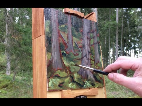 Plein Air Painting Adventures - Ep30 - Painting a Real Forest Scene