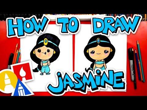 How To Draw Princess Jasmine From Aladdin