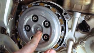 How to change a dirtbike clutch ++AB-48