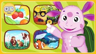 Лунтик Игры Для Малышей - Учим животных, транспорт, овощи, фрукты и музыкальные инструменты