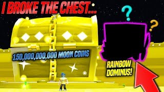 I BROKE THE NEW GIANT DOMINUS CHEST IN PET SIMULATOR MISE à JOUR! 'RAINBOW TIER 17 PETSMD (Roblox)