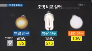 LED조명의 효율성 KBS 0905