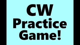 CW Practice Game Software ~ WinKeyer USB & Iambic Master ~ Get Fast at CW Morse!