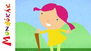 Esik eső, csepereg (Gyerekdalok és mondókák, rajzfilm gyerekeknek)