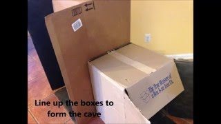 Fun DIY Weekend Craft Project for Kids From Recycled Cardboard Boxes