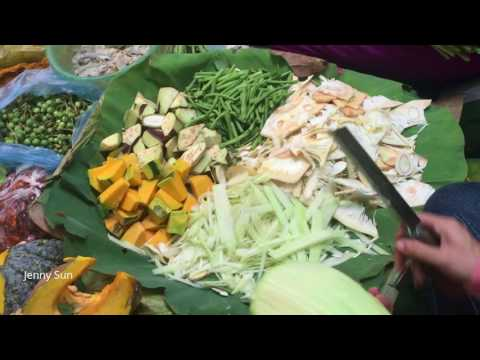 Cambodian Village Food In Phnom Penh Market - Natural Living In The Market - Country Food Complation