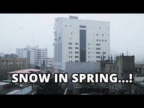 Vlog - Unexpected Snow in Spring - Mashhad, Iran