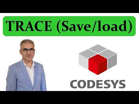 CODESYS: Saving and Loading data using Trace