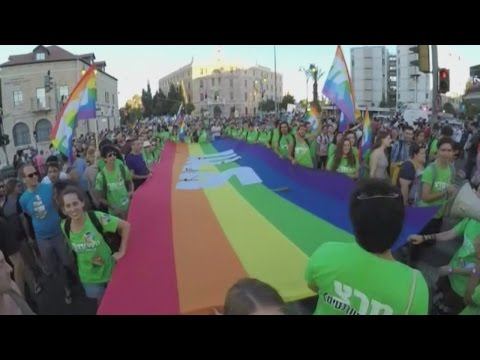 A year after pride attack, thousands march in Jerusalem gay parade