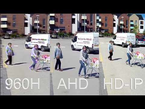 Compare CCTV Recordings, 960H vs AHD Version 1 720P vs HDIP 1080P