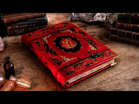 Making THE TOME OF FIRE - EPIC Leatherbound Book