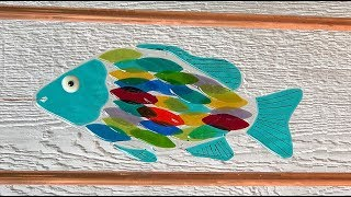 Fused Glass Garden Art with Copper Framing