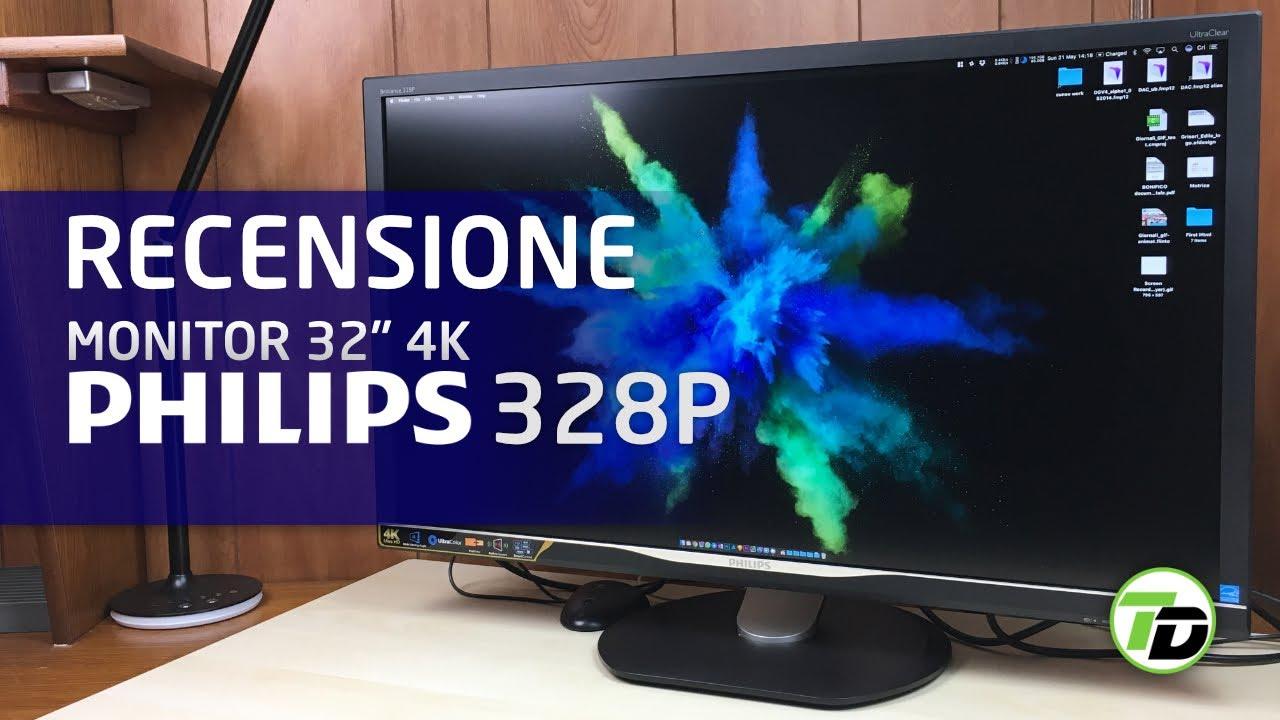 tv 4k 32 pollici philips  Philips 328P - Monitor 4K 32 pollici - RECENSIONE [ITA] - YouTube