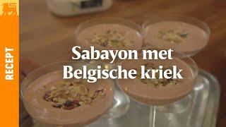 Sabayon met Belgische Kriek