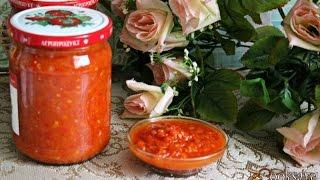 Острый томатный соус со сладким перцем на зиму