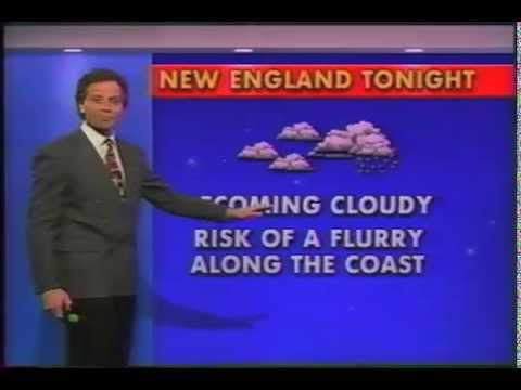 1994 - Barry Burbank - WBZ Boston - weathercast after visiting Cogswell Elementary School