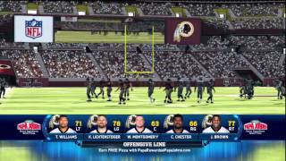 Madden NFL 13 - Seahawks vs Redskins (On Defense) Busted Coverage HD Gameplay Playstation 3