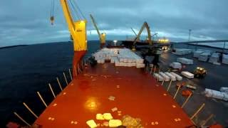 Time Lapse of loading Deck cargo