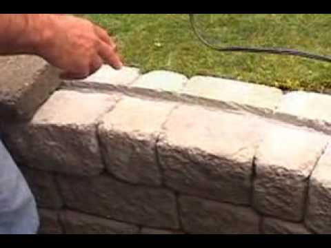 Pocono Landscape Challenge   Light Fixtures In A Retaining Wall   YouTube
