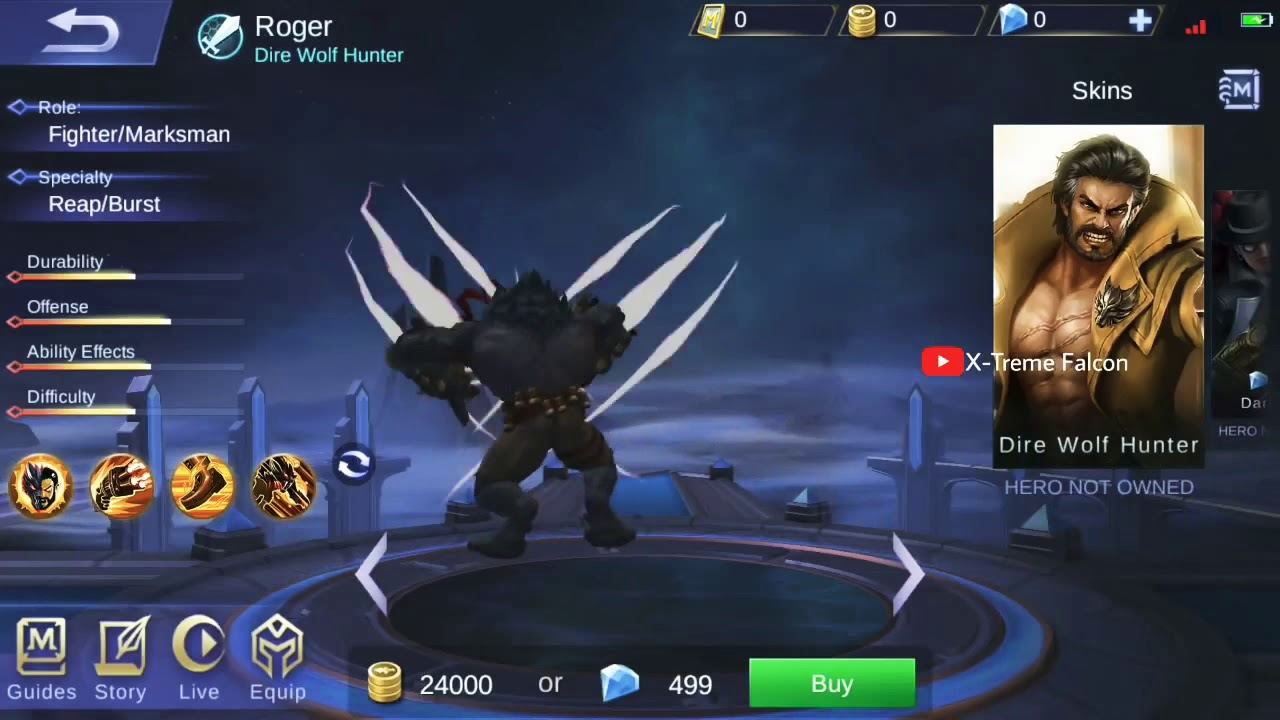New Skin Epic Roger Phantom Pirate Background Skill