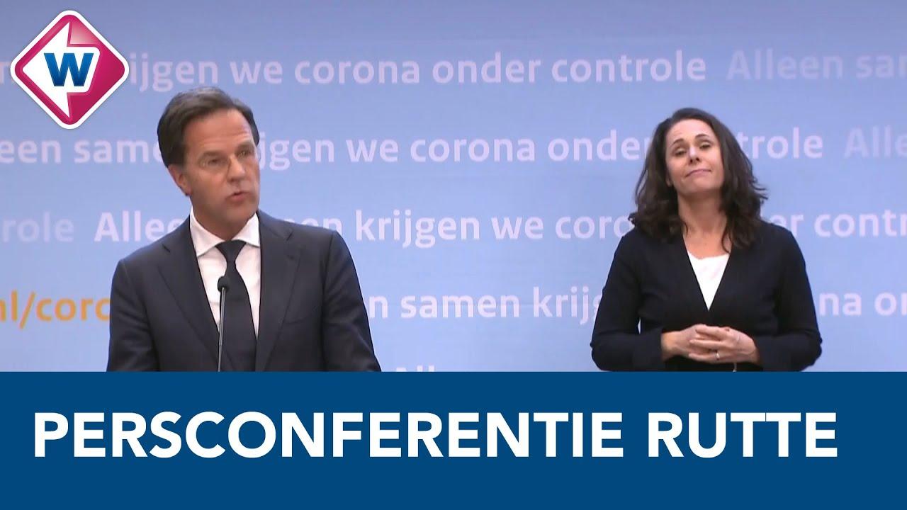Persconferentie President Mark Rutte Over Nieuwe
