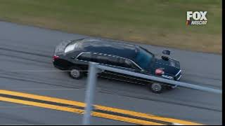 """President Trump and First Lady Melania Trump Lead Off Daytona 500 in """"The Beast"""" in First"""