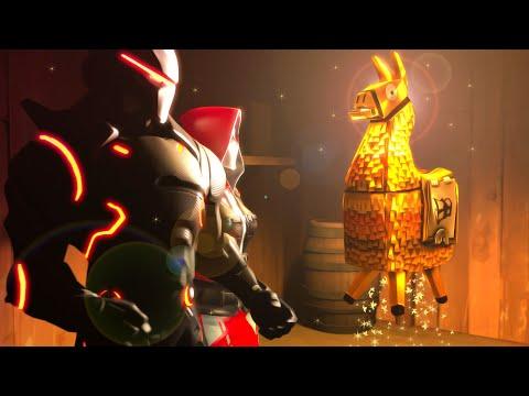 NEW FORTNITE ANIMATION: Saving GOLDEN LOOT LLAMA! (SFM Animation)