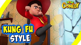 Chacha Bhatija In Hindi- EP19   Kung Fu Style   Funny Videos For Kids   Wow Kidz Comedy
