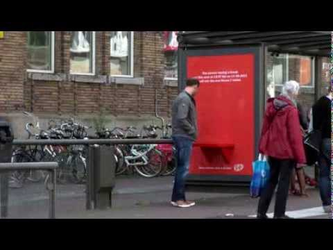 Have a seat - Kit Kat Chocolate Bar Outdoor Advertising