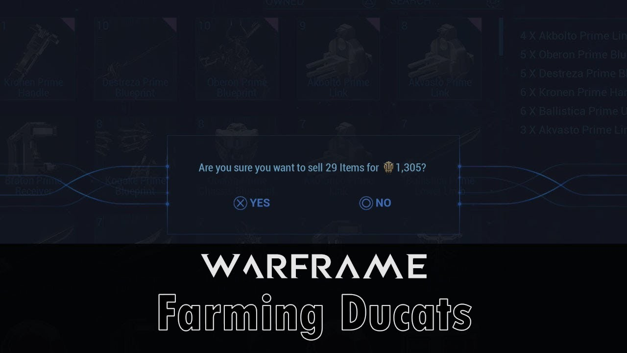 warframe how to get ducats