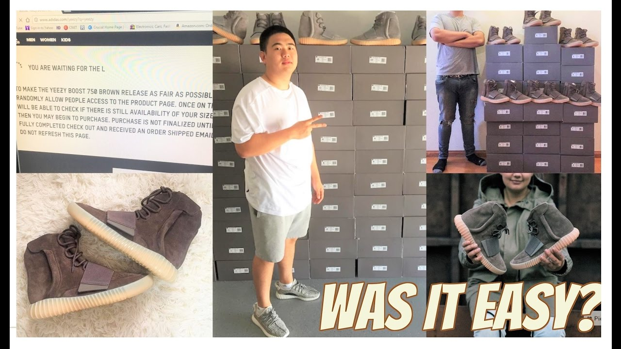 chaussures de sport 68e67 50573 WAS IT EASY TO GET THE YEEZY 750 BROWN TODAY?