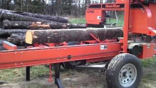 Bandsaw Portable Sawmill Demonstration