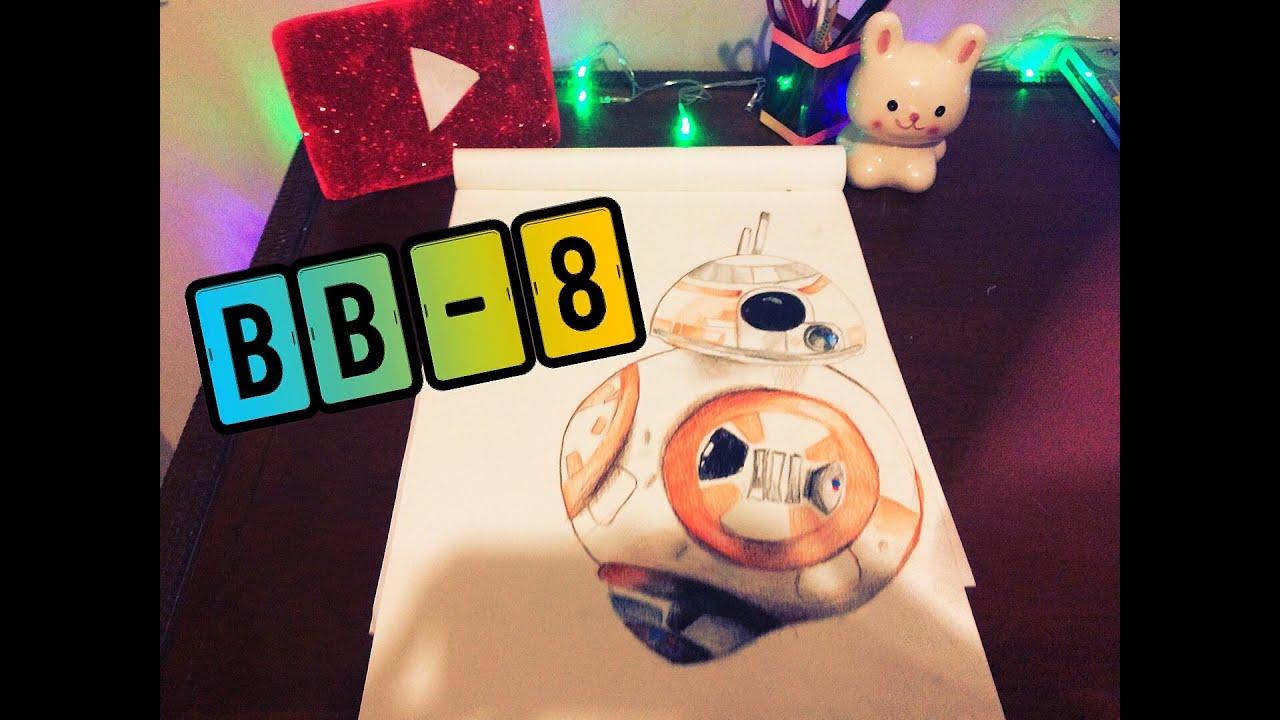 desenho bb 8 star wars speed art youtube