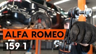 How to replacerear anti roll bar link/ rear drop link onALFA ROMEO 159 1 (939) [TUTORIAL AUTODOC]