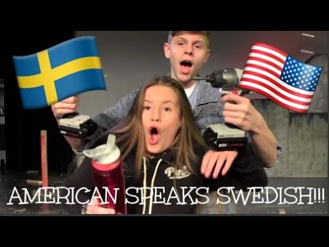 AMERICAN SPEAKS SWEDISH!!!