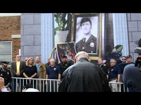 Daniel Faulkner fallen Philadelphia Police Officer Mural Dedication Unveiling 11/24/2014.