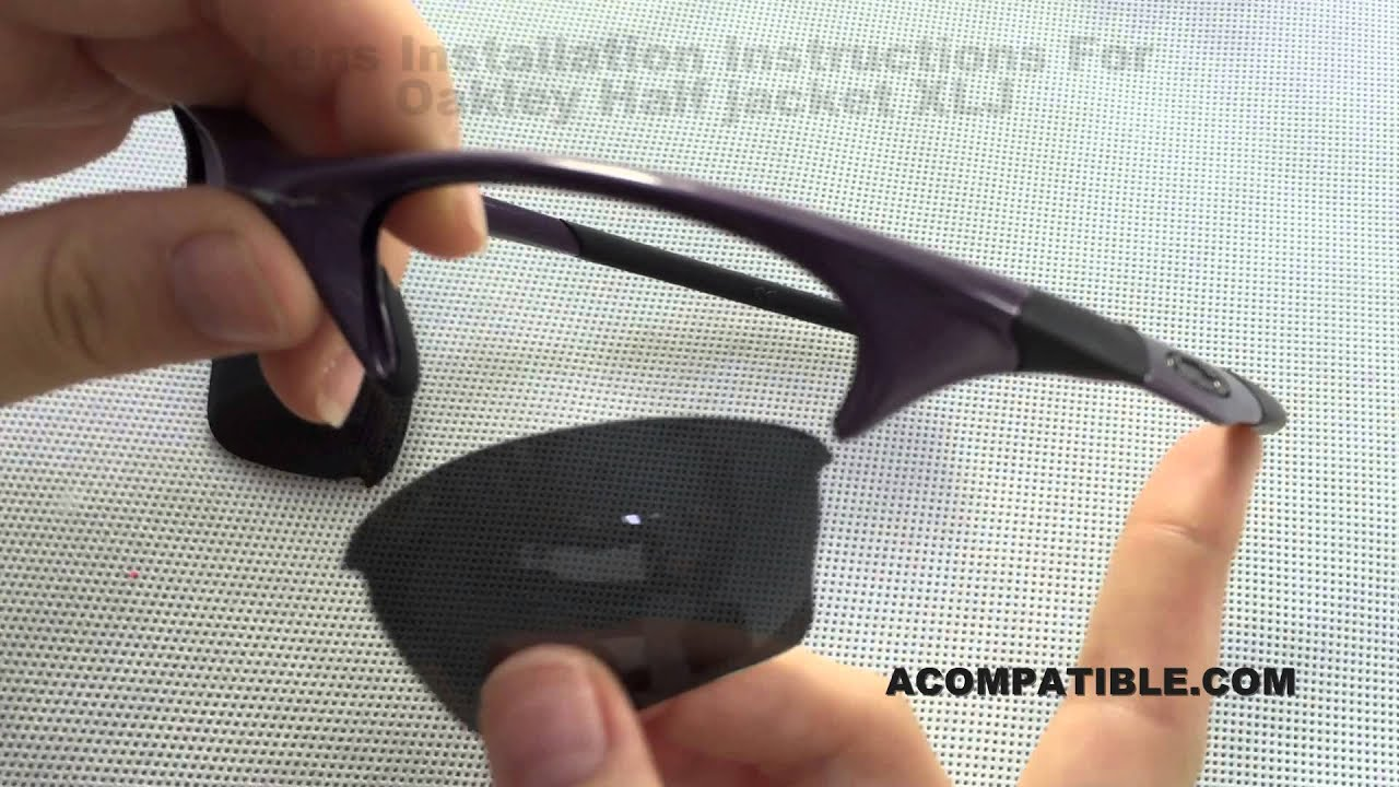 3bcfb64544 Half Jacket XLJ Lens Replace Instruction - Acompatible.com - YouTube