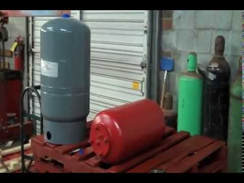 Expansion Tank Installation how to Charge a bladder diaphragm Amtrol extrol  air pressure install