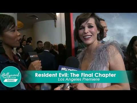 Milla Jovovich hilarious @ Resident Evil: The Final Chapter LA Premiere
