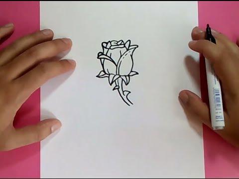 Como dibujar una rosa paso a paso 7 how to draw a rose 7 - Como secar una rosa ...