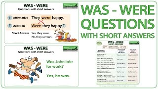 WAS / WERE - Questions with Short Answers