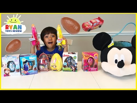 EASTER EGGS SURPRISE 2017 Disney Cars Trolls Minions Finding Dory Frozen Elsa Marvel Avengers