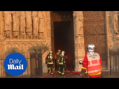 Paris fire brigade footage shows extent of Notre Dame blaze