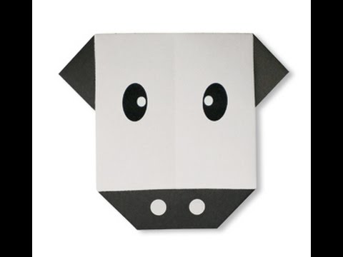 How To Make Origami Cow Face