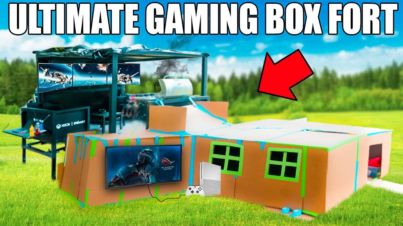 ultimate two story gaming box fort xbox couches surround