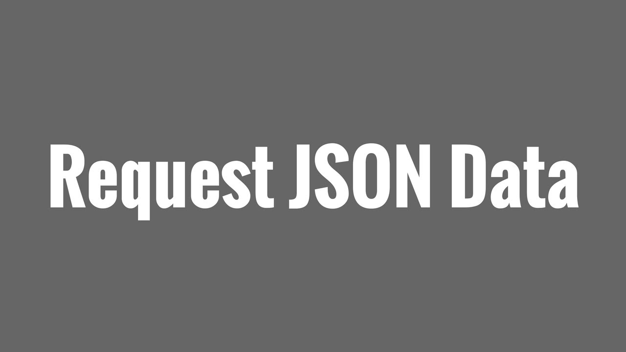 How to Handle Request JSON Data in Flask